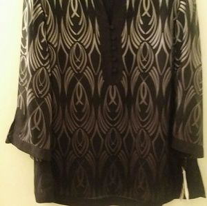 JM Collection tunic top. Brand new.
